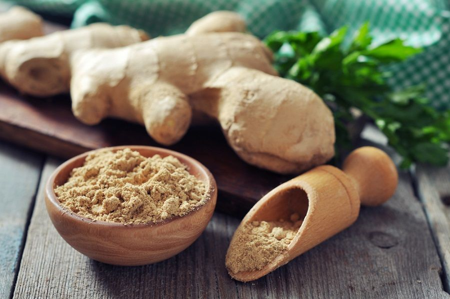 ginger and powder