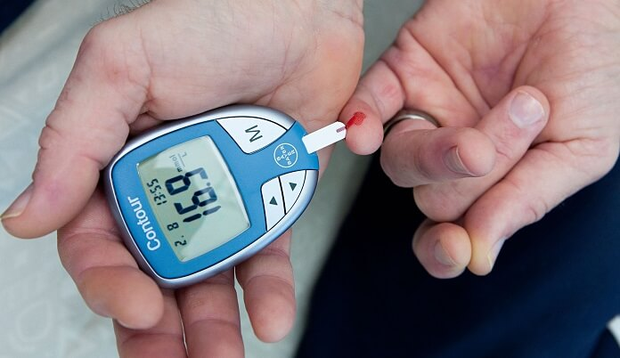 measuring blood sugar level