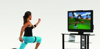 playing games and exercising